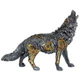 Steampunk Howling Wolf With Gears Figurine 1