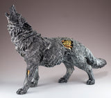 Steampunk Howling Wolf With Gears Figurine 4