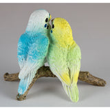 Mini Blue and Green Budgies Parakeets Figurine 4