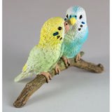 Mini Blue and Green Budgies Parakeets Figurine 5