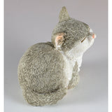 Mini Gray and White Kitten Sleeping Cat Figurine 3
