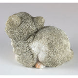 Mini Gray and White Kitten Sleeping Cat Figurine 4