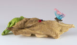Baby Fairy Sleeping In Leaf Figurine With Butterfly & Ladybug 3