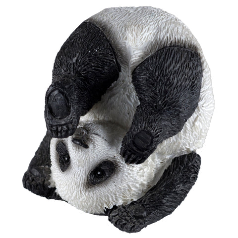 Somersault Yoga Plow Position Panda Bear Figurine