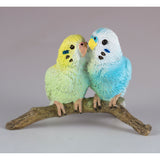 Mini Blue and Green Budgies Parakeets Figurine 2