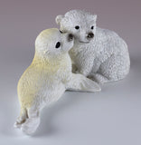 Baby Polar Bear Cub and Seal Figurine 3