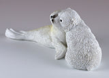 Baby Polar Bear Cub and Seal Figurine 4