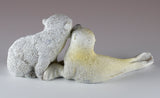 Baby Polar Bear Cub and Seal Figurine 5