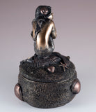 Bronze Colored Mermaid Trinket Box Figurine