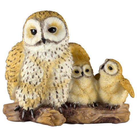 Mini Spotted Owl Mother & Babies Figurine By Veronese Design