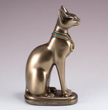Bronze Colored Egyptian Bastet Figurine Goddess Cat