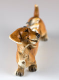 Dachshund With Birds On Back Dog Figurine