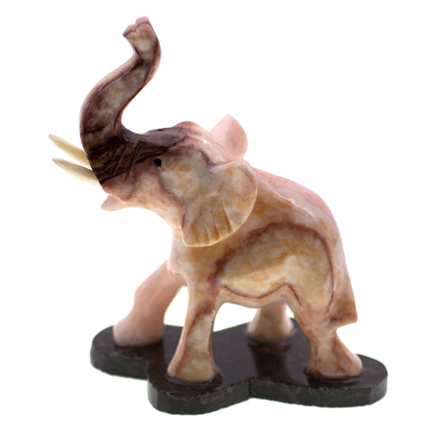 Carved Marble Stone Elephant Figurine 1