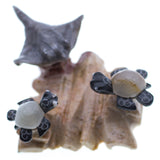 Carved Marble Stone Sea Turtles With Stingray Figurine 4