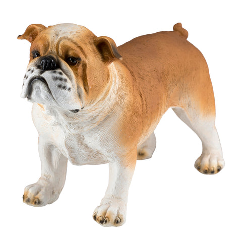 English Bulldog Brown and White Dog Figurine 1