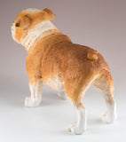 English Bulldog Brown and White Dog Figurine 4