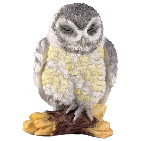 Mini Gray Owl Sleeping Figurine By Veronese Design