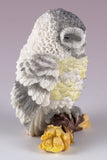 Mini Gray Owl Sleeping Figurine By Veronese Designv