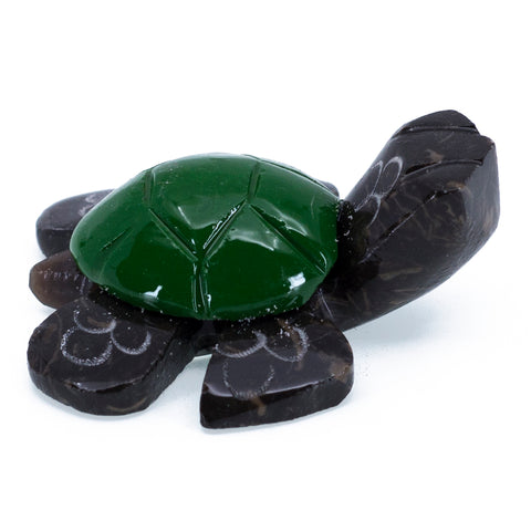 Carved Marble Stone Green Sea Turtle Figurine 1