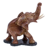 Carved Red Marble Stone Elephant Figurine 3
