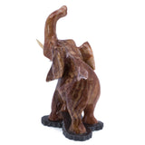 Carved Red Marble Stone Elephant Figurine 4