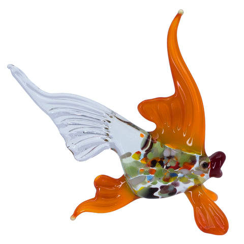 Lampwork Hand Blown Glass Spotted Fish Figurine 1