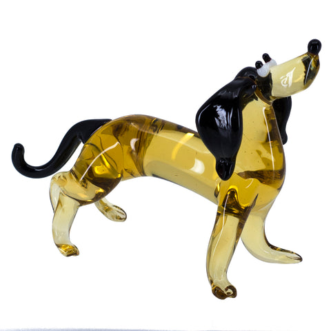 Lampwork Hand Blown Glass Dachshund Dog Figurine 1