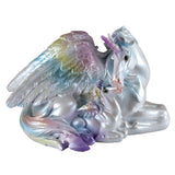 Unipeg Family Mother and Baby Rainbow Pegasus Unicorn Figurine