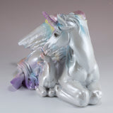Unipeg Family Mother and Baby Rainbow Pegasus Unicorn Figurine 2