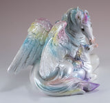Unipeg Family Mother and Baby Rainbow Pegasus Unicorn Figurine 4