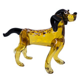 Lampwork Hand Blown Glass Spotted Dog Figurine 1