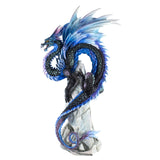 Sapphire Sentinel Blue Dragon Figurine By Andrew Bill