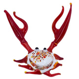 Lampwork Hand Blown Glass Red Clawed Crab Figurine 1