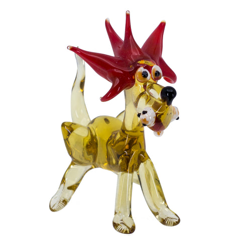 Lampwork Hand Blown Glass Lion Figurine 1