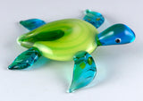 Sea Turtle Hand Blown Glass Figurine 3