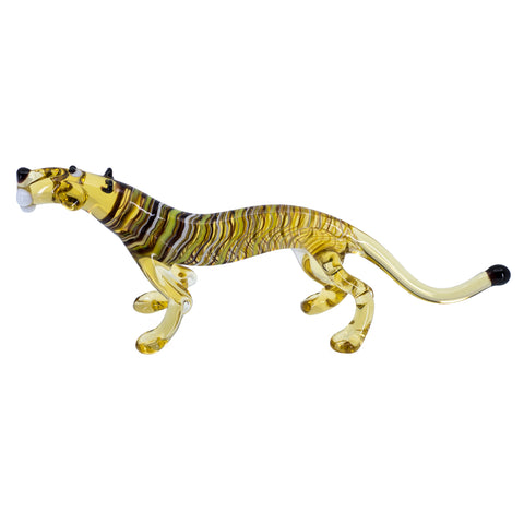 Lampwork Hand Blown Glass Yellow Tiger Figurine 1