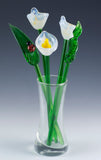 glass flower bouquet white calla lily 2