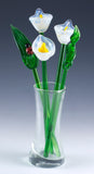 glass flower bouquet white calla lily 3