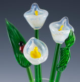 glass flower bouquet white calla lily 4