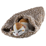 Calico Kitten Sleeping In Blanket Cat Figurine