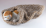 Calico Kitten Sleeping In Blanket Cat Figurine 4