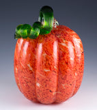 Orange Mosaic pumpkin hand blown glass 3