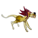 Lampwork Hand Blown Glass Lion Figurine 2