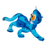 Lampwork Hand Blown Glass Blue Cat Figurine 2