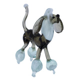 Lampwork Hand Blown Glass Gray Poodle Dog Figurine 2