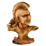 Mini Bust Native American Indian Warrior Faux Carved Wood Figurine 1