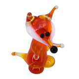 Miniature Lampwork Hand Blown Glass Upright Fox Figurine 1