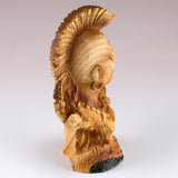 Mini Bust Native American Indian Warrior Faux Carved Wood Figurine 4