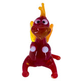 Miniature Lampwork Hand Blown Glass Red Sitting Dragon Figurine 2