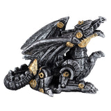 Mini Steampunk Dragon Silver Colored Figurine 1